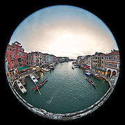 November 29~December 2, 2014  •  Venice, Italy  •  new images for 'aRound Venice'  •  Grand Canal from the Ponte di Rialto looking SW
