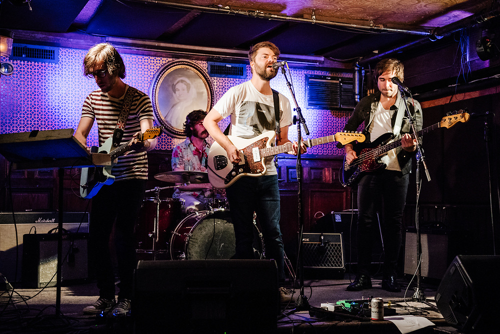 NEW YORK, NY - AUGUST 11: American band Soft Swells perform at Union Hall on August 11, 2017 in Brooklyn, New York. (PHOTO CREDIT: EricMTownsend.com)