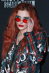 Bella Thorne arrives at Knott's Scary Farm and Instagram's Celebrity Night 2017 at Knott's Berry Farm on September 29, 2017 in Buena Park, California. 29 Sep 2017 Pictured: Bella Thorne. Photo credit: IPA/MEGA TheMegaAgency.com +1 888 505 6342