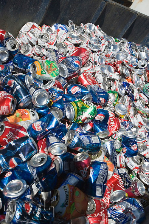 Pile of drink cans