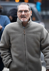 "© Licensed to London News Pictures. 20/11/2018. London, UK. Terry Lubbock arrives at the High Court. Mr Lubbock's son Stuart died at a party hosted by entertainer Michael Barrymore at his home in 2001.  Essex police force is challenging a ruling that Mr Barrymore is entitled to ""more than nominal"" damages over his wrongful arrest which he says destroyed his career. Photo credit: Peter Macdiarmid/LNP"