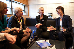 © under license to London News Pictures. 17/11/2010. Minister for Health, Anne Milton MP, meets with delegates from the Royal College of Midwives, including RCM President, Liz Stephens (wearing the chain) at their conference, in Manchester