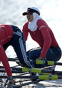 Seville. SPAIN, 16.02.2007. Eygyptian women's lightweight crews  train at the Seville Training Centre in preparation for the weekends - FISA Team Cup, [Photo Peter Spurrier/Intersprt Images]    [Mandatory Credit, Peter Spurier/ Intersport Images]. , Rowing Course: Rio Guadalquiver Rowing Course, Seville, SPAIN,