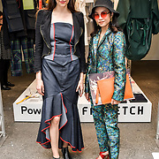 Pascale Cross is a creative director and Pear Chimma is a editor in chef of Sodium Magazine attend the Graduate Fashion Week 2019 - Final Day, on 5 June 2019, Old Truman Brewery, London, UK.