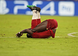 NAPLES, ITALY - Tuesday, September 17, 2019: Liverpool's Sadio Mane looks dejected during the UEFA Champions League Group E match between SSC Napoli and Liverpool FC at the Studio San Paolo. (Pic by David Rawcliffe/Propaganda)