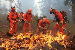 Inmate Fire Crew from Washinton Ridge - Forest Fires in Lake Tahoe