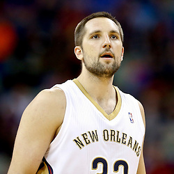 Nov 16, 2013; New Orleans, LA, USA; New Orleans Pelicans power forward Ryan Anderson (33) against the Philadelphia 76ers during the second half of a game at New Orleans Arena. The Pelicans defeated the 76ers 135-98. Mandatory Credit: Derick E. Hingle-USA TODAY Sports
