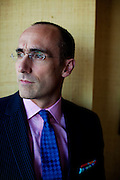 """Arthur C. Brooks, 46, President of the American Enterprise Institute and author of the book """"The Battle: How the Fight between Free Enterprise and Big Government Will Shape America's Future"""" in his Washington, DC office on Tuesday, June 8, 2010."""