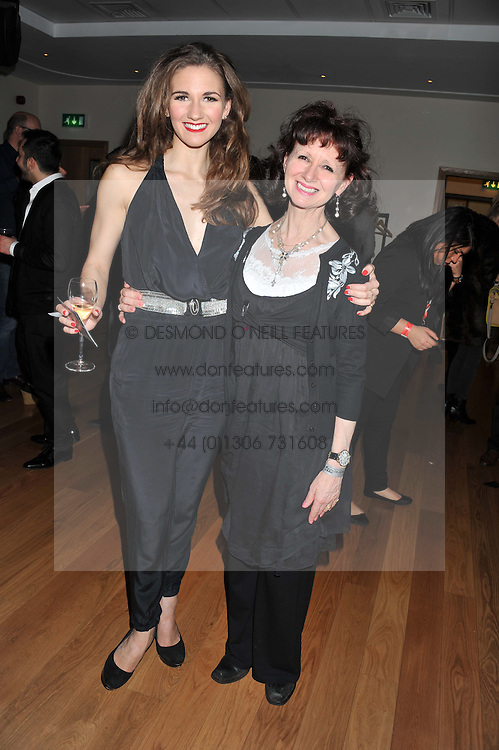 Left to right, SUMMER STRALLEN and her mother CHERIDA LANGFORD at the 5th annual West End Eurovision in aid of the make A Difference Trust held at The Dominion Theatre, London on 26th April 2012.