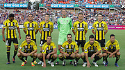 Wellington Phoenix team photo prior to the game against the Perth Glory before the A-Leagues minor semi final held at nib Stadium, Perth, Australia on Saturday 7 April 2012. Photo Theron Kirkman / Photosport.co.nz
