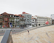 Portugal, skating in front of Casa da Musica