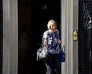 Harriet Harman <br /> acting leader of the Labour party seen popping into 10 Downing Street.<br /> 6th July 2015 <br /> <br /> <br /> Photograph by Elliott Franks <br /> Image licensed to Elliott Franks Photography Services