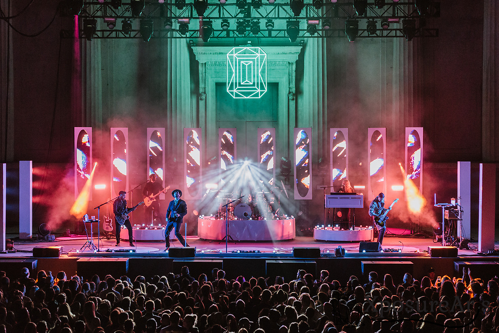 Lord Huron performs at the Greek Theatre in Berkeley, CA.