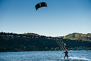 Alfonso was nervous kiteboarding with a 10 meter kite in the notoriously high winds of Hood River, Oregon.