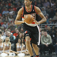 16 March 2012: Portland Trail Blazers small forward Nicolas Batum (88) passes the ball during the Portland Trail Blazers 100-89 victory over the Chicago Bulls at the United Center, Chicago, Illinois, USA.