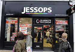 © Licensed to London News Pictures. 010/01/2013.Jessops store Bromley, South East London..Jobs are at risk for shop staff across the UK after high street photography giant Jessops announced it had gone into administration...Photo credit : Grant Falvey/LNP