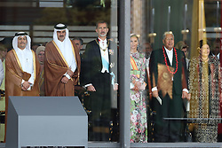 Emir of Qatar Tamim bin Hamad Al Thani with King Felipe and Queen Letizia attend the Enthronement Ceremony of Emperor Naruhito at the Imperial Palace in Tokyo, Japan on October 22, 2019. Photo by Robin Utrecht/ABACAPRESS.COM