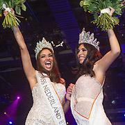 NLD/Hilversum/20131208 - Miss Nederland finale 2013, Miss Nederland World Tatjana Maul en Miss nederland Universe Yasmin Verheijen