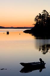 Dawn in Blue Hill Bay.  Blue Hill Falls, Maine.
