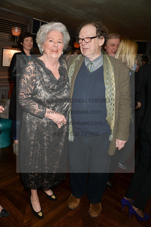 BARONESS BOOTHROYD and WILLIAM PACKER at a party to celebrate the publication on 'Just One More - A Photographers Memoir' by Gemma Levine held at 34, South Audley Street, London on 7th April 2014.