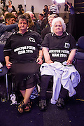 NZ First supporters Faye Emery and Rosalie Allen wait for Winston Peters at the Spencer on Byron in Takapuna at their HQ for the night of the 2014 New Zealand General Election
