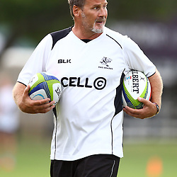 DURBAN, SOUTH AFRICA, Thursday 14, January 2016 - Robert du Preez( Assistant Coach) of the Cell C Sharks during The Cell C Sharks Pre Season training Thursday 14th January 2016,for the 2016 Super Rugby Season at Growthpoint Kings Park in Durban, South Africa. (Photo by Steve Haag)<br /> images for social media must have consent from Steve Haag