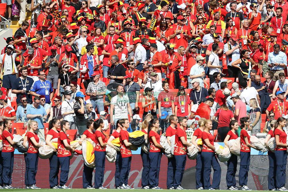 June 23, 2018 - Moscou, Rússia - MOSCOU, MO - 23.06.2018: BÉLGICA Y TÚNEZ - Volunteers during the match between Belgium and Tunisia valid for the 2018 World Cup held at the Otkrytie Arena (Spartak) in Moscow, Russia. (Credit Image: © Ricardo Moreira/Fotoarena via ZUMA Press)