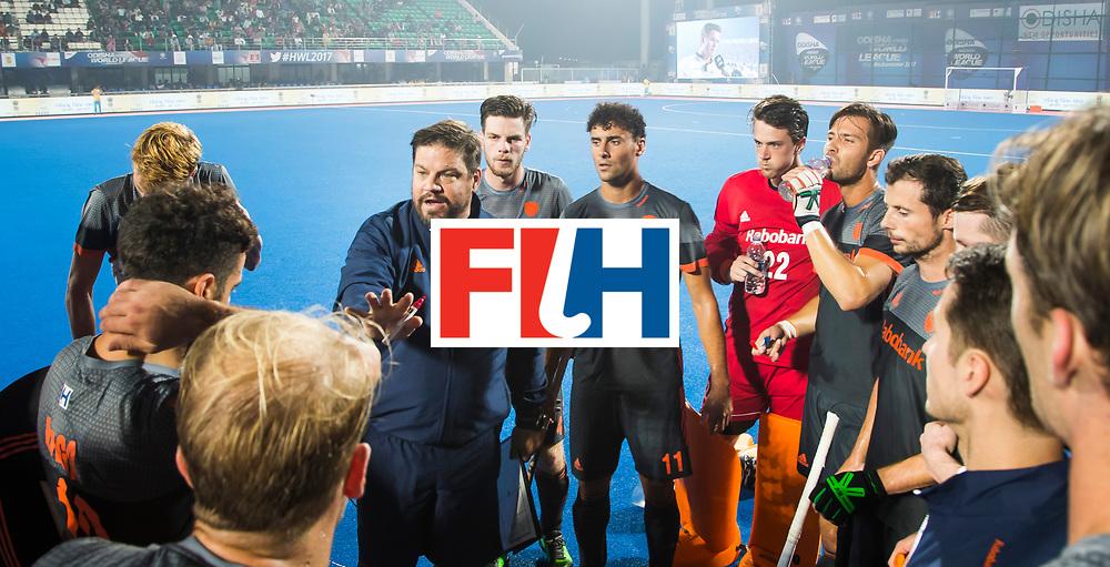 BHUBANESWAR - bondscoach Max Caldas (Ned) tijdens de Hockey World League Final wedstrijd Belgie-Nederland. COPYRIGHT KOEN SUYK