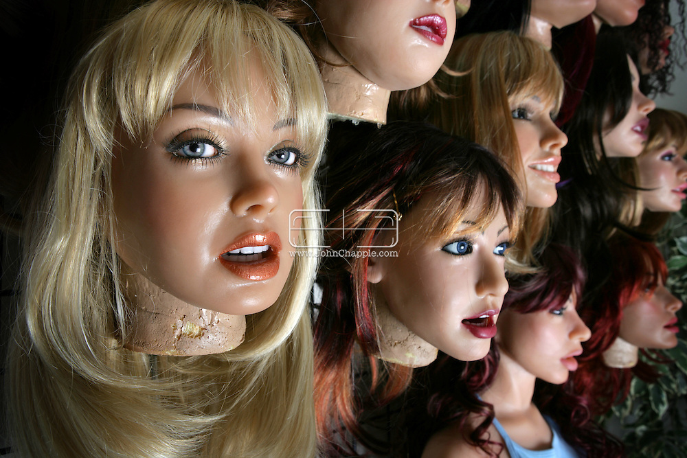 2nd April 2008, San Marcos, California. Have you ever wanted a girlfriend that didn't talk back? One Southern Californian company produces a life-like doll made of silicone rubber that has a flesh-like feel. Each doll is custom made to your specifications from body shape to eye colour. Known as the 'Ferrari of love-dolls', at US$6500 they are the price of a used car. Extras include realistic eyes for $350 per pair, human hair eyebrows for $150. One doll was featured in the Oscar nominated movie, 'Lars and the Real Girl'. PHOTO © JOHN CHAPPLE / REBEL IMAGES.john@chapple.biz    www.chapple.biz