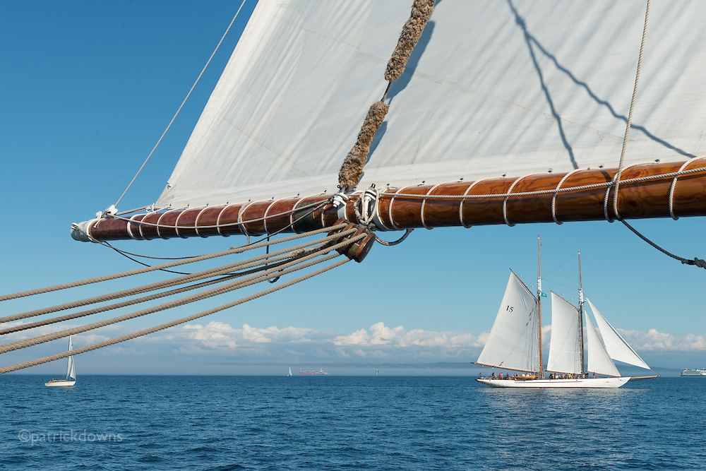 From the schooner Zodiac, at the Wooden Boat Festival schooner race. Port Townsend, WA