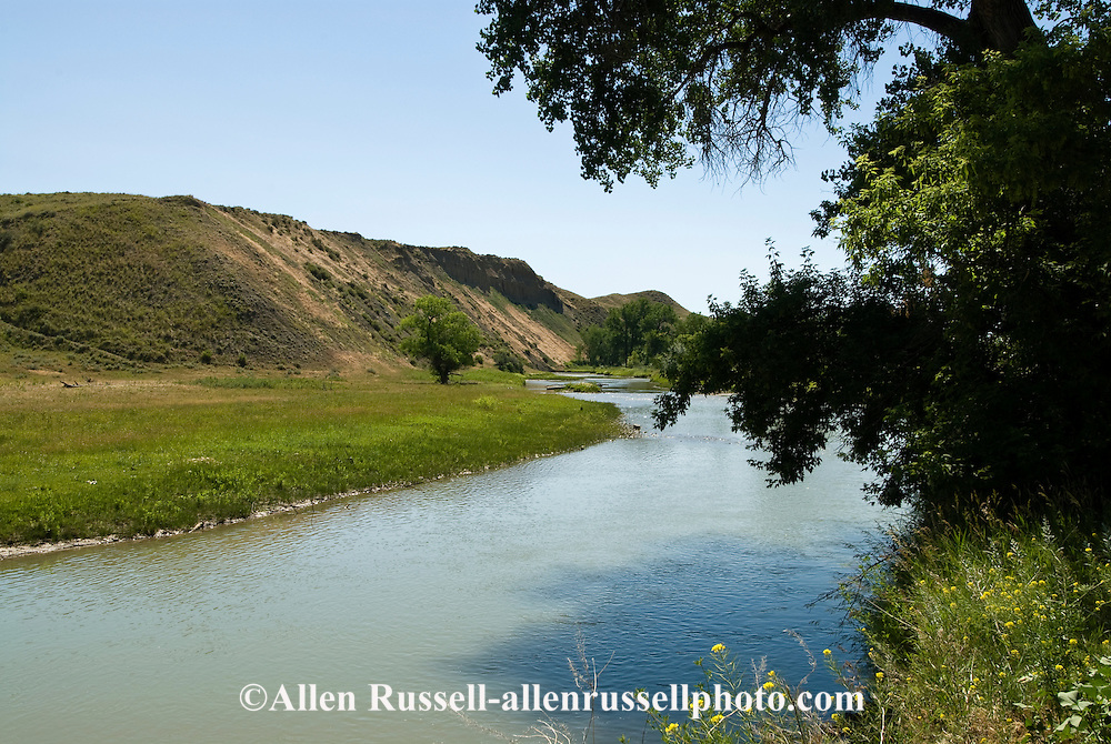 Little Bighorn River, Crow Indian Reservation, Montana, Medicine Tail Coulee where Battle of the Little Bighorn occurred