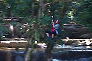 Zip line at Tad Sae Waterfall, near Luang Prabang, Laos.