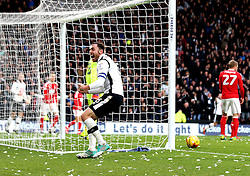 Richard Keogh of Derby County celebrates Nicklas Bendtner of Nottingham Forest scoring an own goal - Mandatory by-line: Robbie Stephenson/JMP - 11/12/2016 - FOOTBALL - iPro Stadium - Derby, England - Derby County v Nottingham Forest - Sky Bet Championship