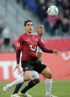 Fotball<br /> Tyskland<br /> 23.10.2011<br /> Foto: Witters/Digitalsport<br /> NORWAY ONLY<br /> <br /> v.l. Mohammed Abdellaoue, Jerome Boateng (Bayern)<br /> Bundesliga, Hannover 96 - FC Bayern München 2:1