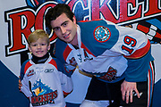 KELOWNA, CANADA - FEBRUARY 24:  Pepsi Player of the Game with Dillon Dube #19 of the Kelowna Rockets at the Kelowna Rockets game on February 24, 2018 at Prospera Place in Kelowna, British Columbia, Canada.  (Photo By Cindy Rogers/Nyasa Photography,  *** Local Caption ***