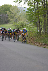 The field climbs up a hill on Old Lynchburg Road south of Charlottesville.  Stage 7, the final stage of the Tour of Virginia, started and finished just off of Charlottesville's historic downtown mall on April 29, 2007.  The stage took country roads through Albemarle and Buckingham Counties, passing through the University of Virginia, the town of Scottsville, and Thomas Jefferson's Monticello before finishing in a series of circuits around downtown Charlottesville, VA.