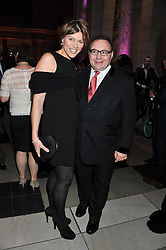 KATE SILVERTON and JONATHAN SHALIT at the 50th birthday party for Jonathan Shalit held at the V&A Museum, London on 17th April 2012.