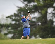 Oxford High's Turner Arnold tees off during the closing round of the MHSAA Class 5A state championship golf tournament at the Ole Miss Golf Course in Oxford, Miss. on Thursday, May 2, 2013. Oxford High won to win the state championship.
