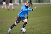 Mateusz Bogusz of Leeds United Under 23's warming up before the U23 Professional Development League match between Barnsley and Leeds United at Oakwell, Barnsley, England on 9 March 2020.