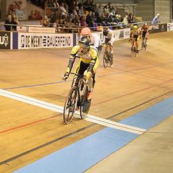 28-12-2017: Wielrennen: NK Baan: Alkmaar<br />Scratch mannen wedstrijd beeld. Roy Eefting (Apeldoorn) rijd naar de nationale titel