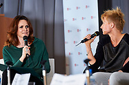Warsaw, Poland - 2017 April 07: (L) Monika Holdak - advertising strategist, trend analyst and (R) Kamila Nowowiejska - instructor and fitness coach attend in The Day of Health - science conference in the National Library on April 07, 2017 in Warsaw, Poland.<br /> <br /> Mandatory credit:<br /> Photo by © © Adam Nurkiewicz / Mediasport / Mediasport<br /> <br /> Picture also available in RAW (NEF) or TIFF format on special request.<br /> <br /> Any editorial, commercial or promotional use requires written permission from the author of image.<br /> <br /> Adam Nurkiewicz declares that he has no rights to the image of people at the photographs of his authorship.