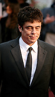 Actor Benicio Del Toro at the red carpet for the gala screening of Jimmy P. Psychotherapy of a Plains Indian film at the Cannes Film Festival 18th May 2013