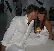 Jayma Cardoso with boyfriend Scott.P. Diddy Real White Party to commemorate Labor Day.P. Diddy Easthampton Estate.Easthampton, NY, USA.Sunday, September, 02, 2007.Photo By Celebrityvibe; .To license this image please call (212) 410 5354 ; or.Email: celebrityvibe@gmail.com;.