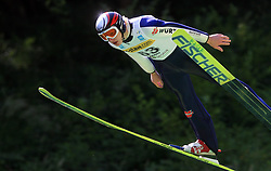 Pascal Bodmer of Germany at FIS Continental cup Ski-jumping Summer Kranj, on July 6, 2008, Kranj, Slovenia. (Photo by Vid Ponikvar / Sportal Images)<br /> <br /> / Sportida)