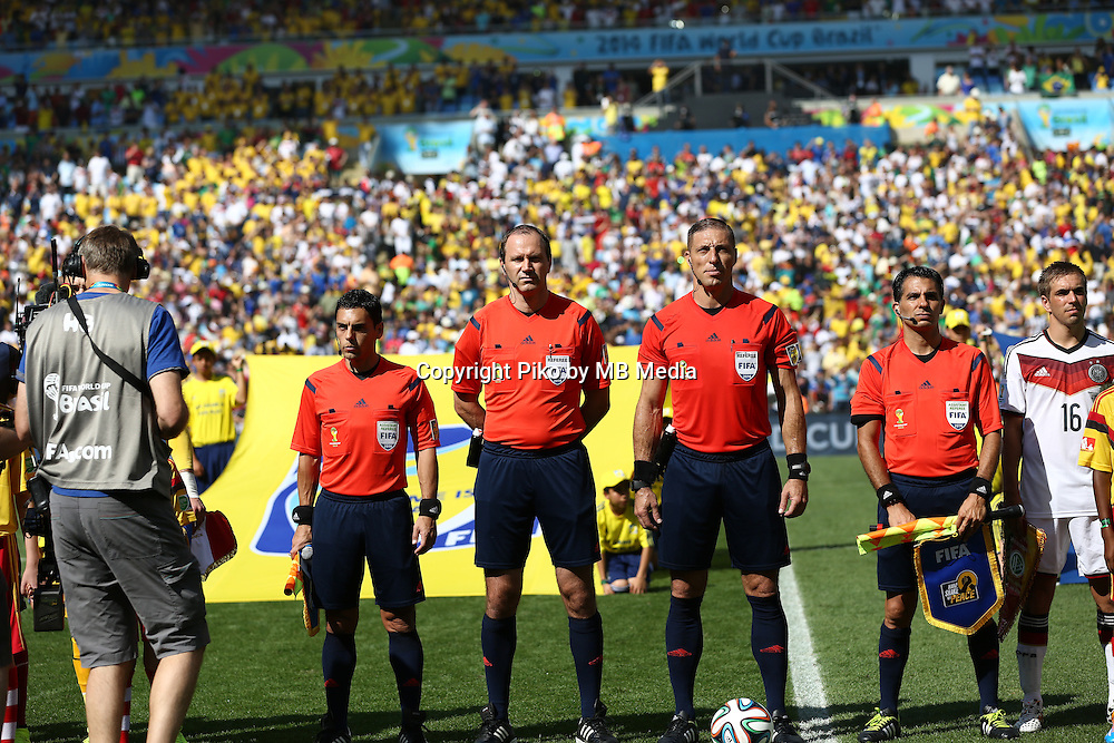 Fifa Soccer World Cup - Brazil 2014 - <br /> FRANCE (FRA) Vs. GERMANY (GER) - Quarter-finals - Estadio do Maracana Rio De Janeiro -- Brazil (BRA) - 04 July 2014 <br /> Here Argentine referee of the match<br /> &copy; PikoPress