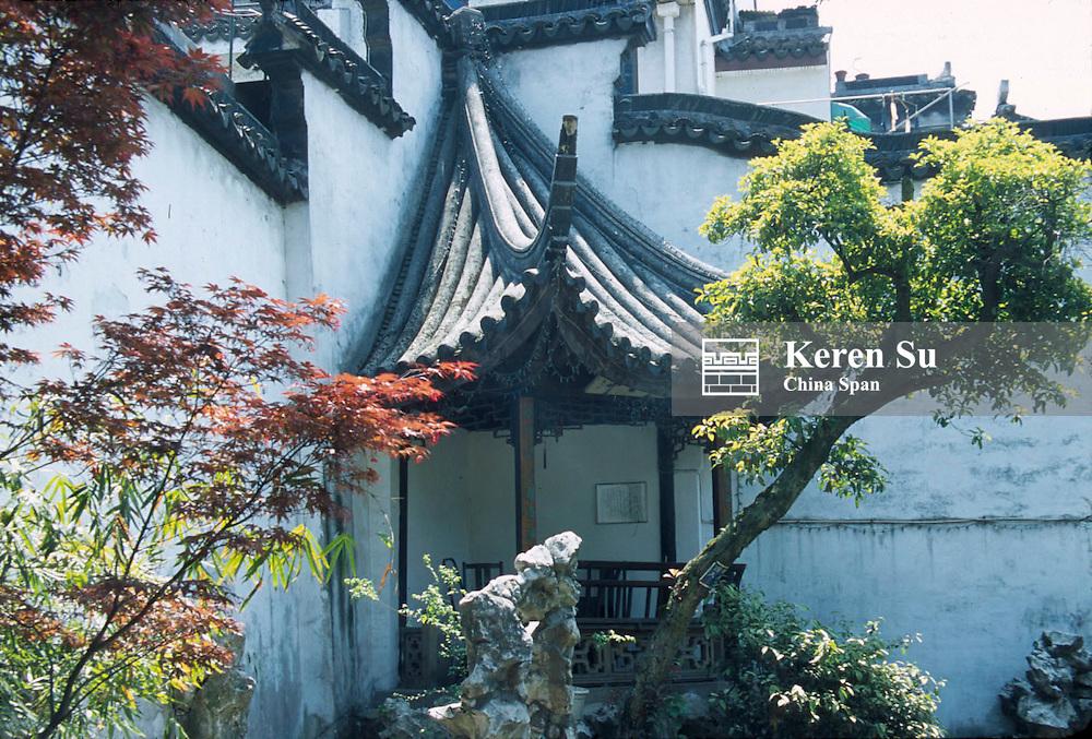 Landscape in Half Corner Pavilion Garden, Suzhou, Jiangsu Province, China