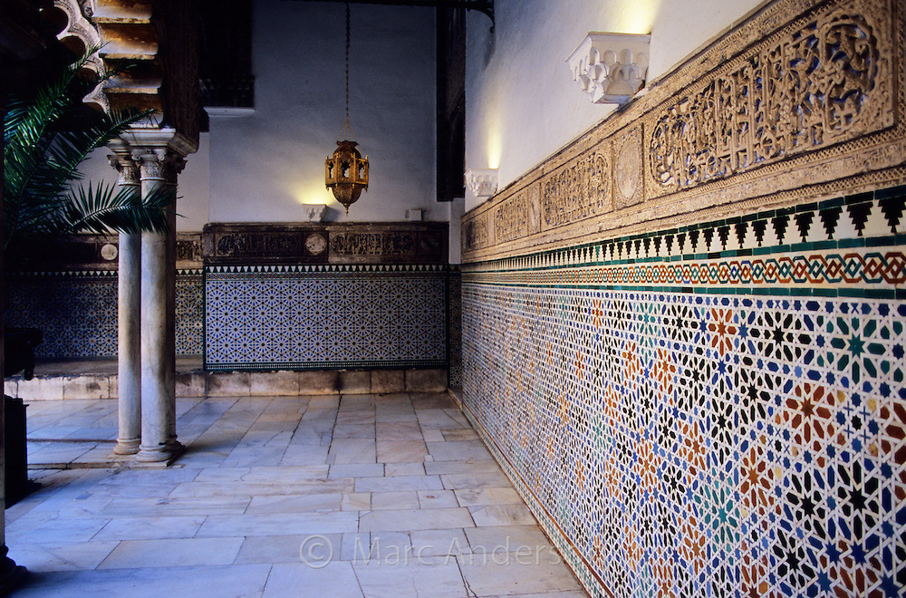 Moorish (Arabic) architecture in the Alcazaba in Seville, Spain