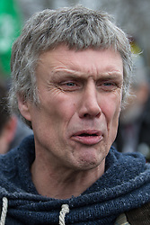 LNP Weekly Highlights 21/03/14 © Licensed to London News Pictures . 17/03/2014 . Barton Moss , Salford , UK . Happy Mondays dancer , BEZ ( Mark Berry ) , joins protesters at the Barton Moss anti-fracking protest site in Salford today (Monday 17th March 2014) . Bez has said he will stand for MP in the constituency of Salford and Eccles in 2015 . Photo credit : Joel Goodman/LNP