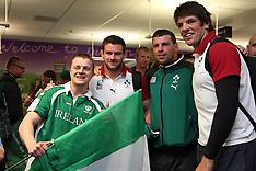 Dunedin-Rugby, RWC, Ireland airport arrival