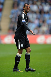Ashley Cole of Chelsea gestures to his team mates during the FA Cup Sponsored by E.ON 6th round match between Coventry City and Chelsea at the Ricoh Arena on March 7, 2009 in Coventry, England.